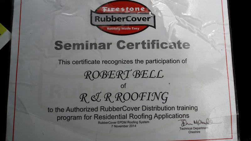 Image 42 - we are proud to show oue certificate for our training course ,with firestone rubber roofing.