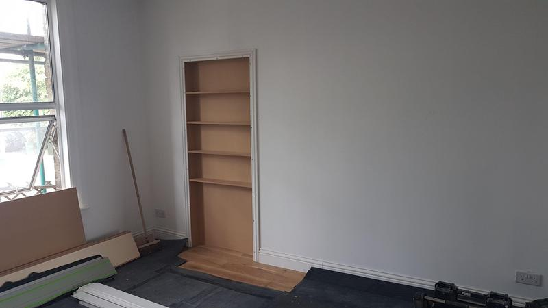 Image 38 - Door way conversion into shelving unit