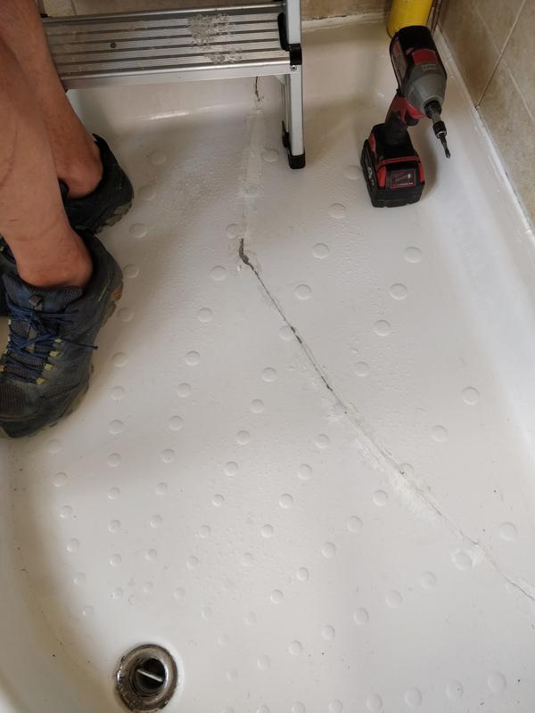 Image 41 - Cracked shower tray
