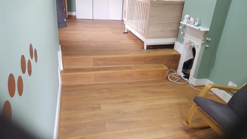 Image 40 - Engineered hardwood flooring installed.