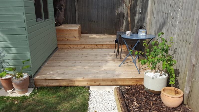 Image 37 - Decking area built to the customers requirements