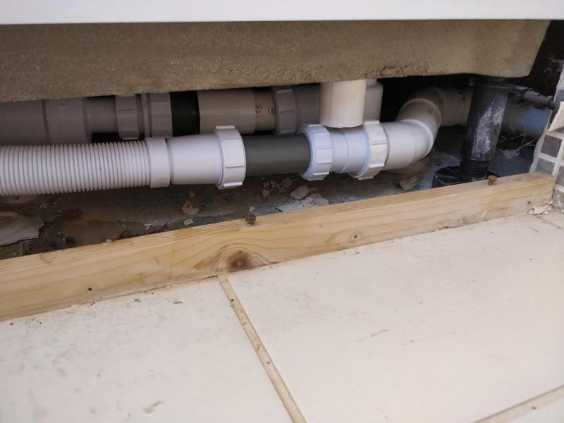 Image 3 - Replacement shower trap with a anti syphon fitting to stop bad smells as when the toilet was flushed it was pulling water from trap