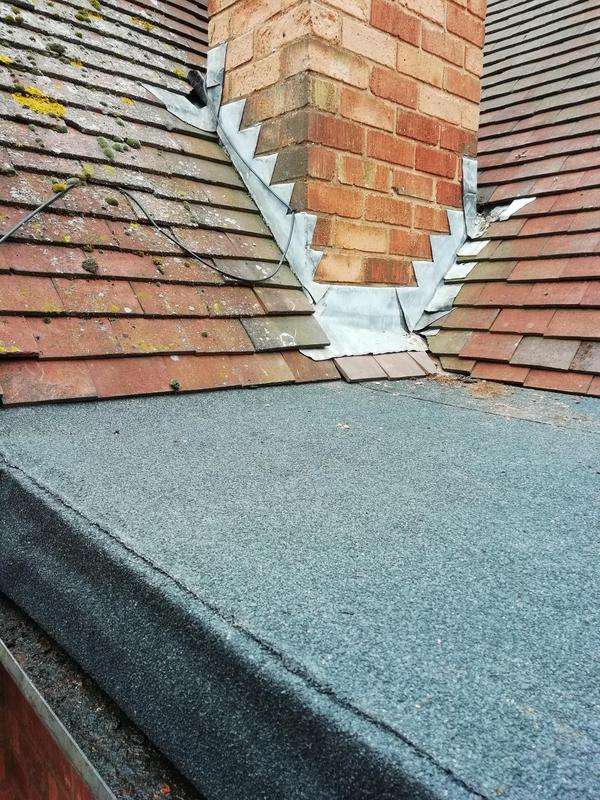 Image 26 - Roof after with correct fall and 3 layer felt system