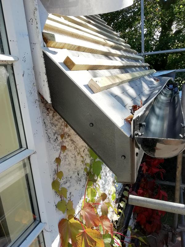 Image 25 - Black ash woodgrain fascia cut into window