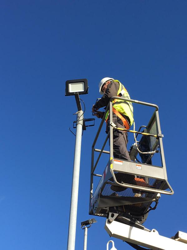 Image 41 - New. Led lighting in a car park