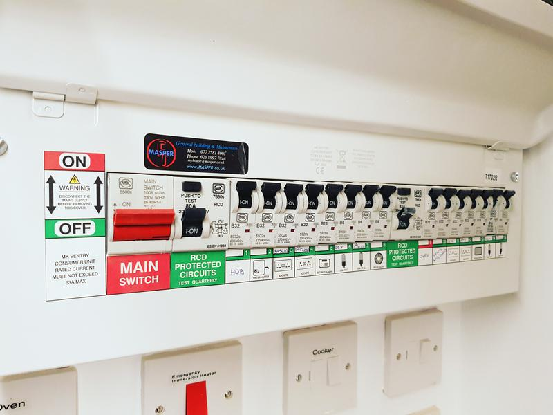 Image 17 - New Electrical Fuse Board Installation and Comisioning