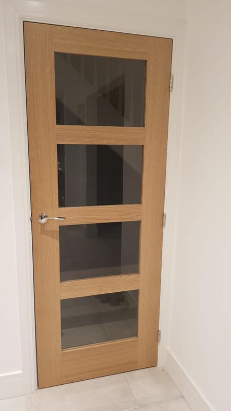 Image 54 - Oak glass doors