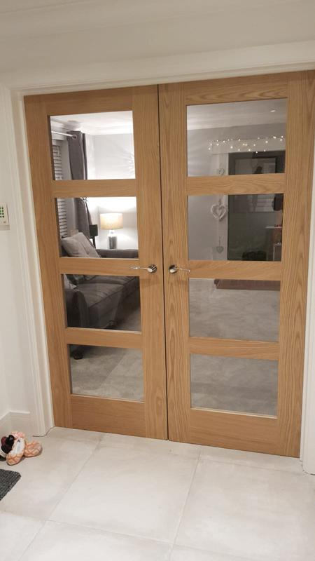 Image 53 - Oak glass doors
