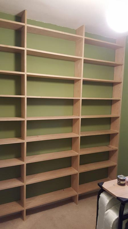 Image 5 - natural wood shelving unit built with no visable joins or brackets. all dowelled and glued.