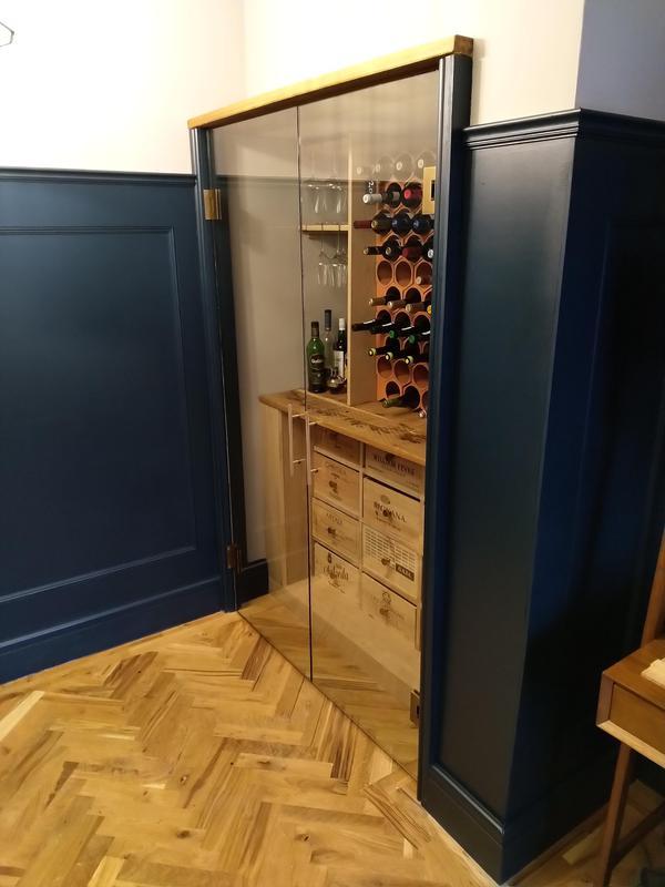 Image 14 - Wine cupboard with glass doors
