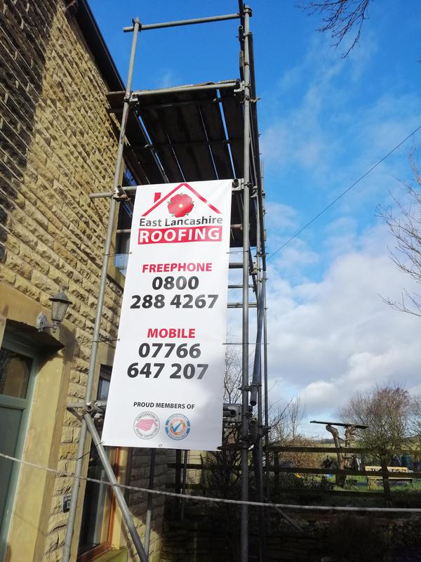 Image 15 - Scaffolding up in Burnley