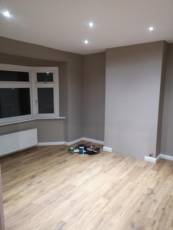 Image 21 - AFTER. Fully room renovation. New plasterboard ceilings, new spothlights, layed laminate, skimmed walls and ceilings, and fully painted.