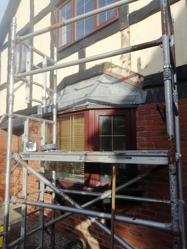 Image 4 - Scaffolding for leaking bay Dan Oswaldtwistle