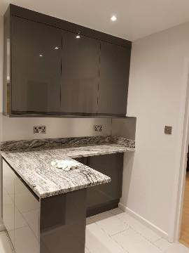 Image 7 - Kitchen refurbishment works, the client requested a breakfast bar.