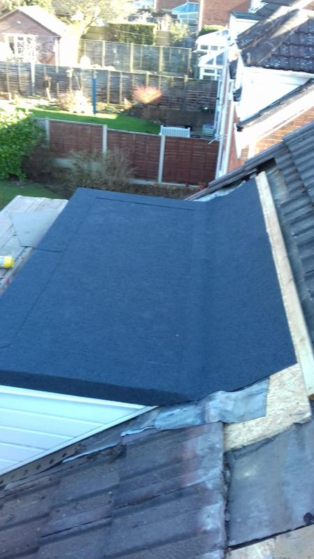 Image 12 - All new 4mm tourch on mineal felt with 18mm o,s,b marine ply board for dorma roofs