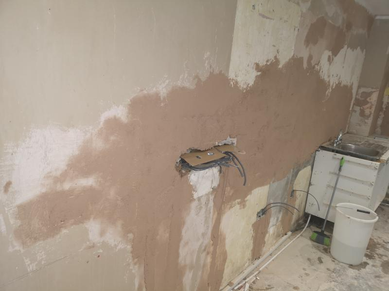 Image 5 - Kitchen refurbishment works, extensive repairs were required to the walls before plastering works could commence