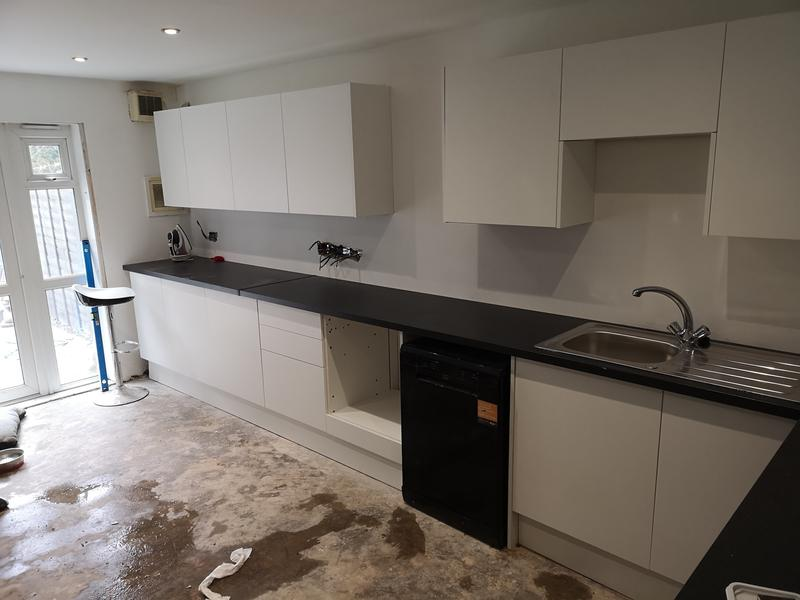 Image 3 - Kitchen refurbishment works, the units, sink and appliances have been installed, final decorating works, tiling and flooring to follow