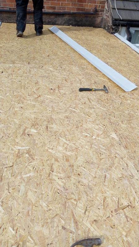 Image 13 - The new OSB decking fully fitted