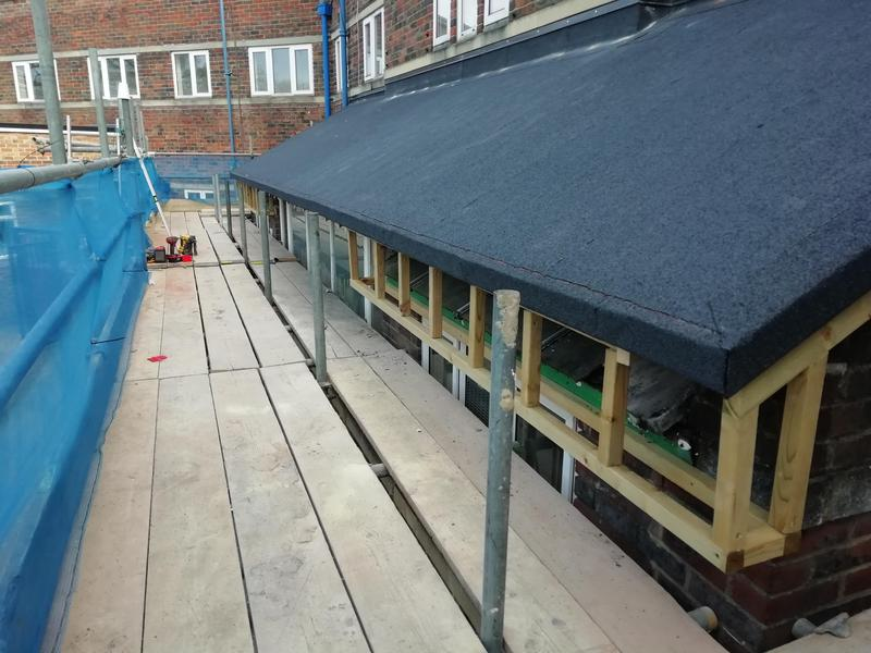 Image 26 - New framework for soffit and fascia.