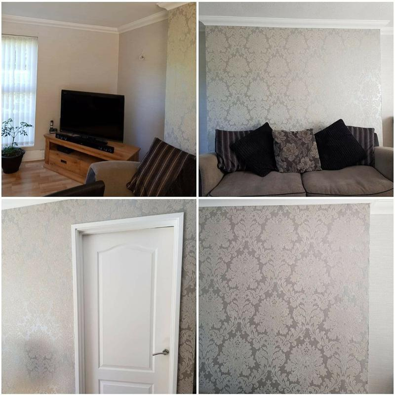 Image 1 - Redecorating a living room. From stripping wallpaper off to repapering  and all woodwork.