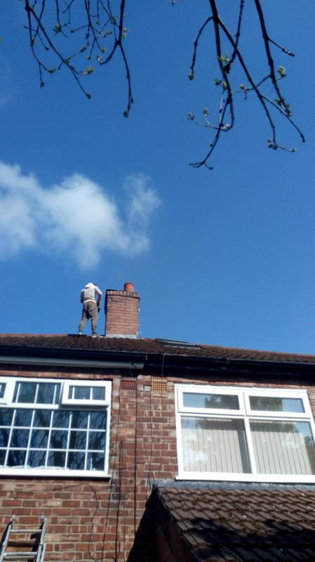 Image 1 - A small chimney repair,high wind had loosened a couple of bricks,we replaced the bricks and repointed.
