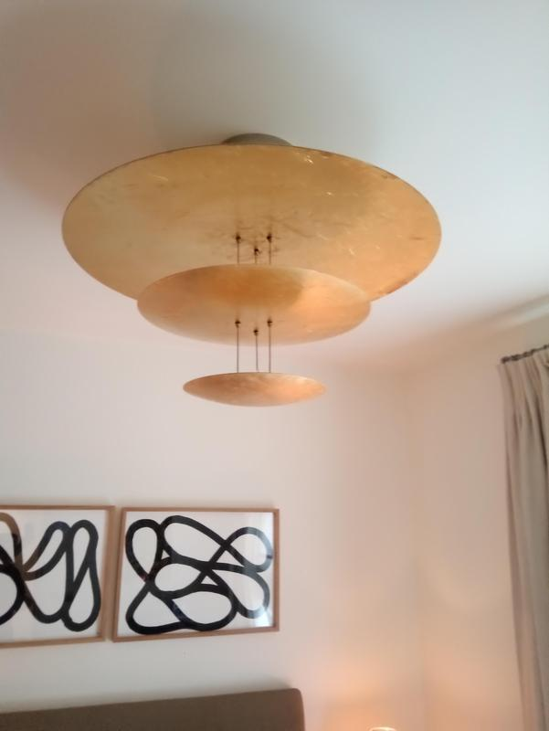 Image 2 - Gold leaf light fitting installed by us.