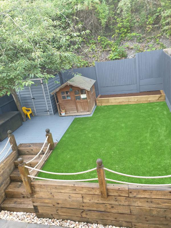 Image 39 - After artificial grass installation in Walderslade ref 001401