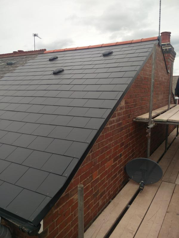 Image 93 - Main Roof Replacement in light weight slate, completed June 2019, Earlsdon.
