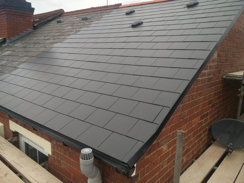 Image 94 - Main Roof Replacement in light weight slate, completed June 2019, Earlsdon.