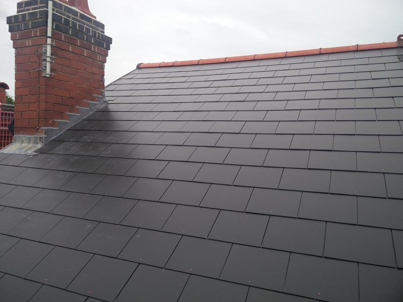 Image 97 - Main Roof Replacement in light weight slate, completed June 2019, Earlsdon.