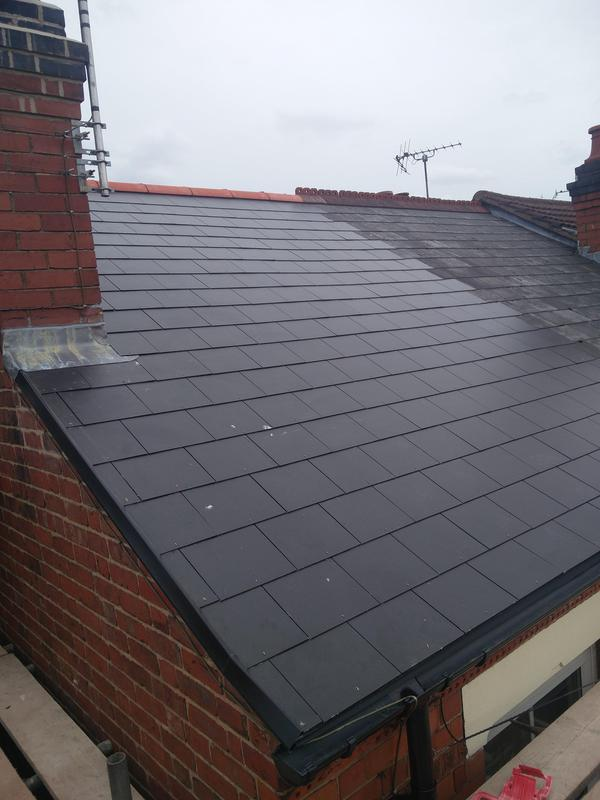 Image 98 - Main Roof Replacement in light weight slate, completed June 2019, Earlsdon.
