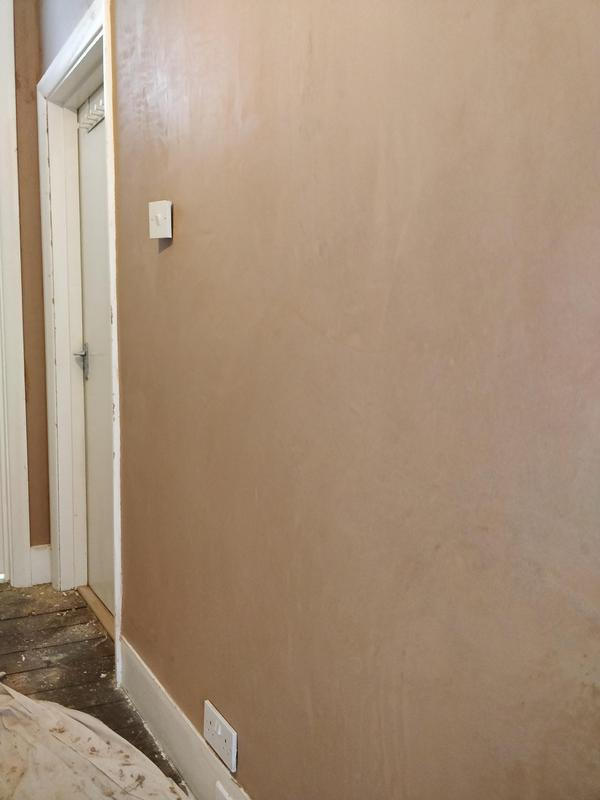 Image 1 - Same wall after being plastered