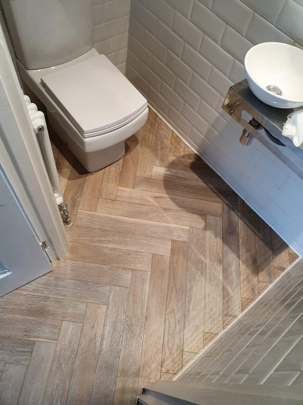 Image 14 - Smoked brushed white oiled parquet flooring
