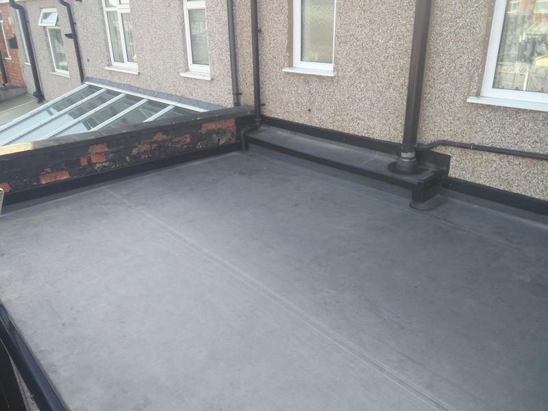 Image 91 - Kitchen Extension Rubber Roof Covering, completed July 2019, Stoke.