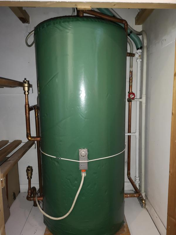 Image 8 - New vented indirect stainless steel hot water cylinder installed.