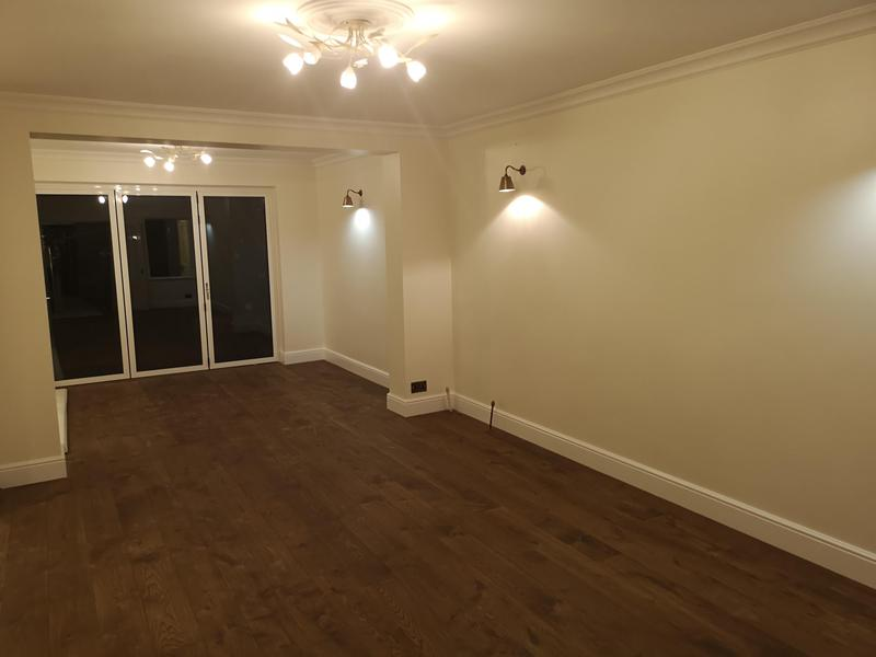 Image 64 - Fully renovated siting room. Newengineered wood flooring, new lights fitted, plastered wall, and fully painted.