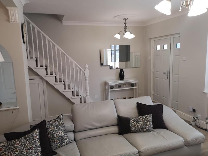 Image 15 - Full siting room renovation. New covings, skirtings, flooring, carpet on stairs, plastered walls and ceilings and fully painted.