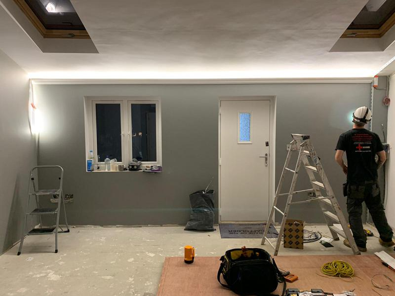 Image 11 - In middle of installing led feature lighting