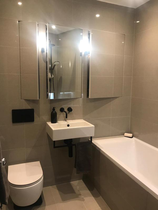 Image 12 - Brand new bathroom with in wall, tiled cupboards