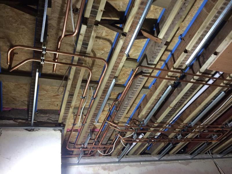 Image 9 - Large house installation of central heating system of 7 zones with 1 mile of new copper pipes laid throughout the house.