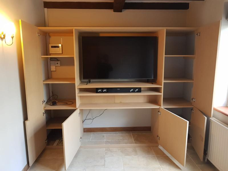 Image 2 - Inside tv unit with cupboard space