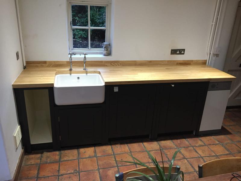 Image 7 - Solid wood worktop with Belfast sink