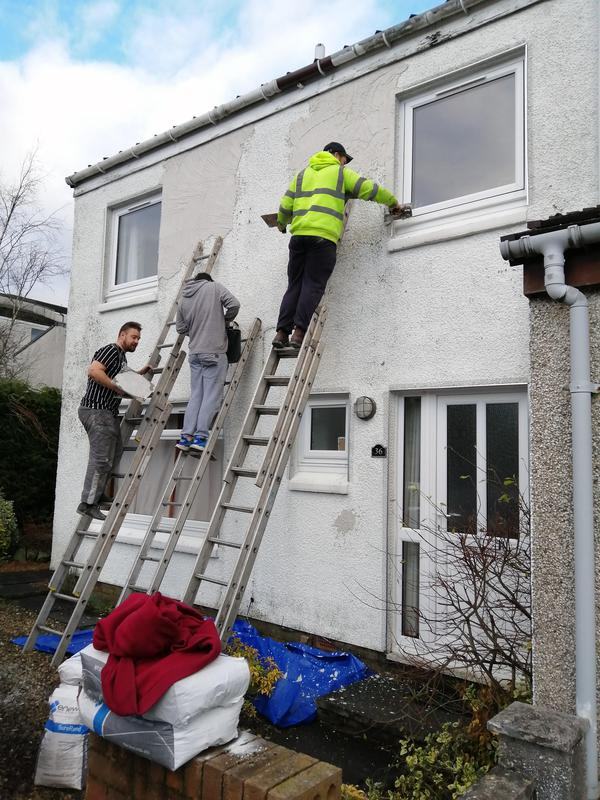 Image 2 - House getting prepared for new roughcast