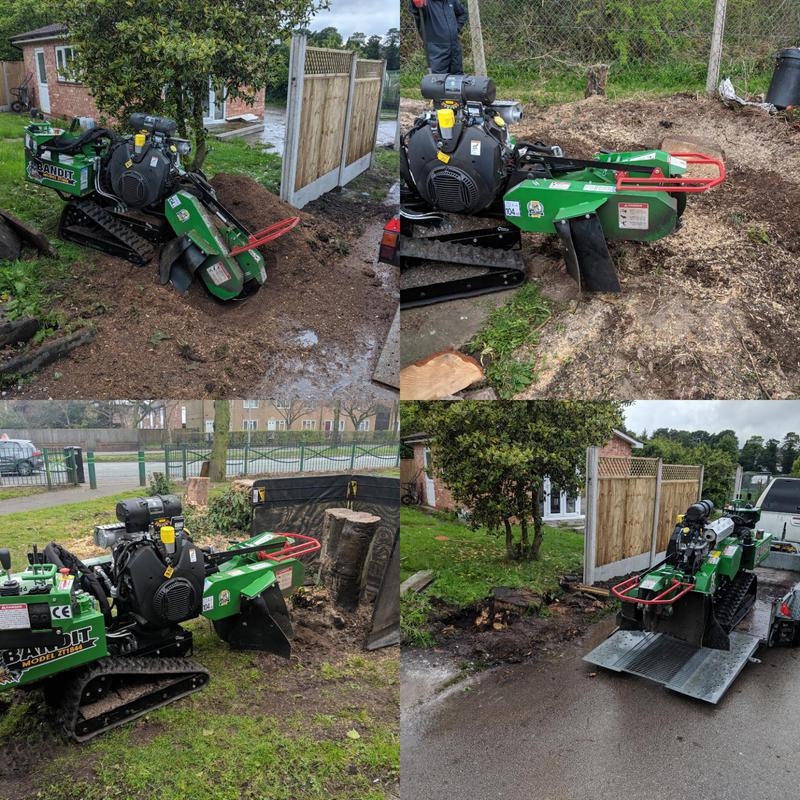 Image 13 - Stump grinding can be made easy with our specialist machines where access is never a problem. Any stump any size we can definatily handle it. Here this stump was preventing the continuation of a new fenceline.