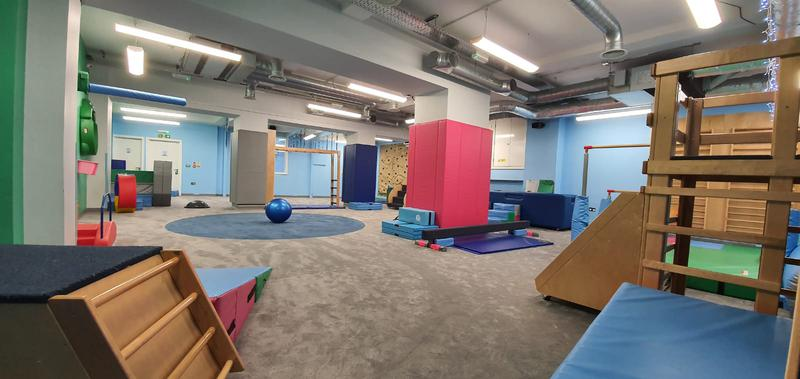 Image 19 - My Gym in Crouch End wanted to replace their carpet at the kids play area. The job required special skills for the circular die cut. Cloud 9 Underlay for better sound reduction impact was used. This picture is after.