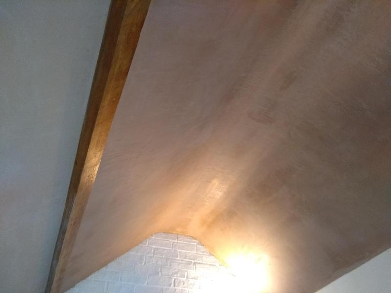 Image 1 - Vaulted ceiling plasterboarded and plasterd.