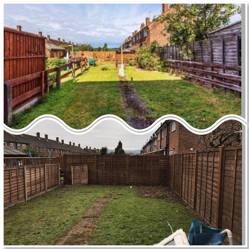 Image 11 - New Garden fence before and after.