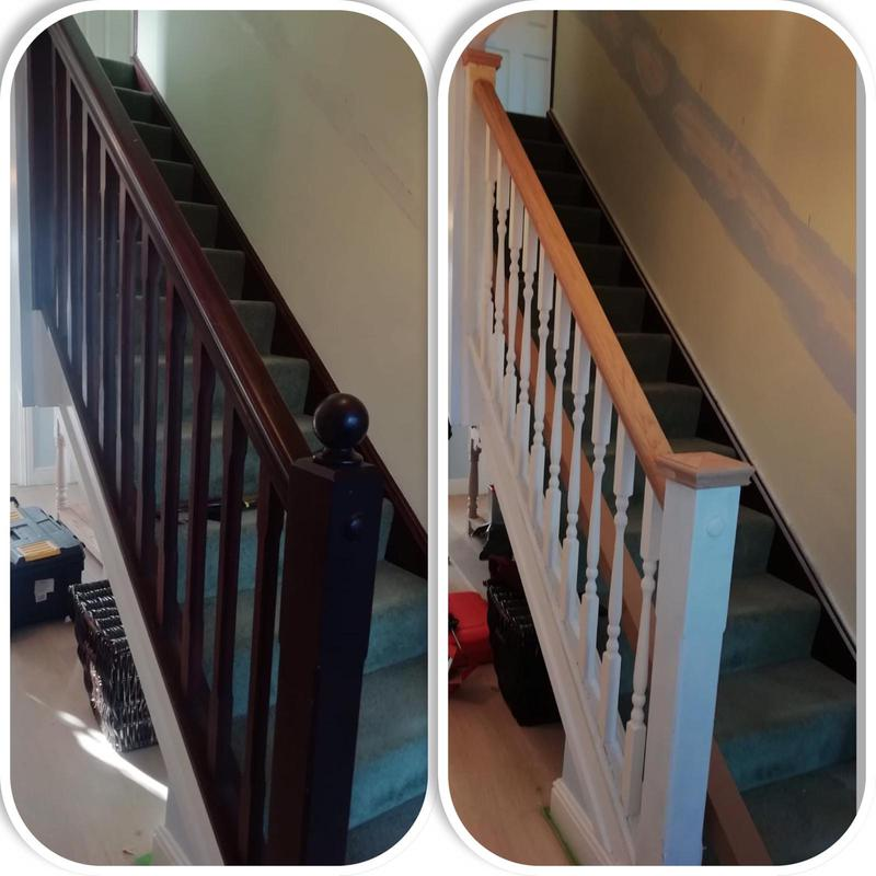 Image 21 - Upgrade of stair spindle and banisters.