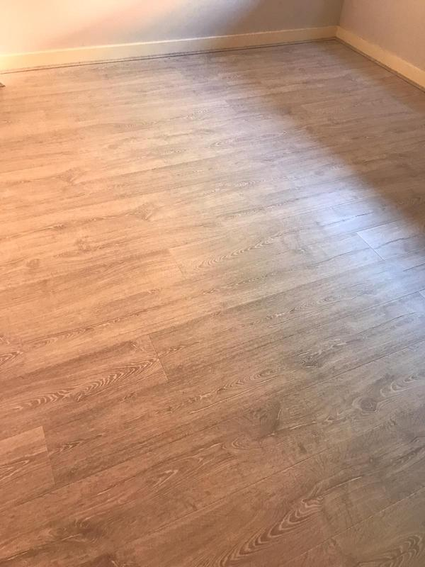 Image 8 - 2 bedrooms + 1 Living Room + Hallway, supply and fir very good quality laminate Quick step brand with an underlay and matching scotia. Job was completed in One Day only.