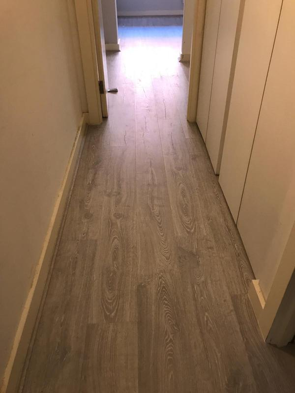 Image 9 - 2 bedrooms + 1 Living Room + Hallway, supply and fir very good quality laminate Quick step brand with an underlay and matching scotia. Job was completed in One Day only.